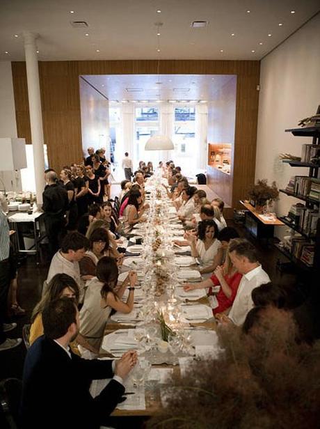 Lela Rose dinner party in NYT