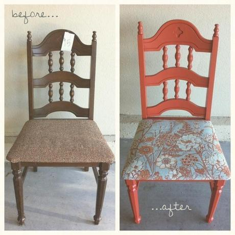 vintage chair makeover.
