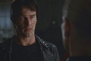 Stephen Moyer as Bill Compton, all covered in Queen