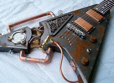 Ten Incredible Steampunk Guitars