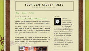 Indiana Blogs: Four Leaf Clover Tales