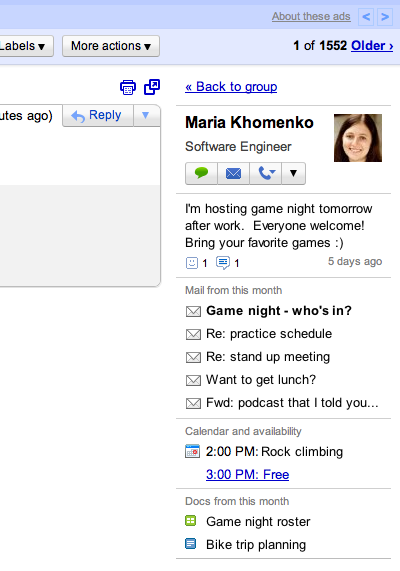 Gmail's New Inbox Styles and People Widget