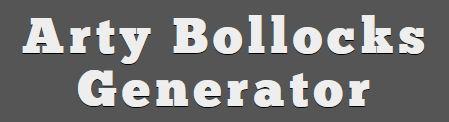 Arty Bollocks Generator