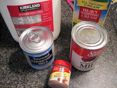 Tres leches - Ingredients for Soaking Milk Bath