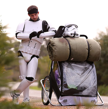 Imperial Trooper Takes A Charitable Stroll