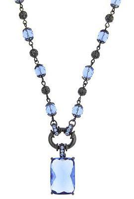 translucent blue necklace