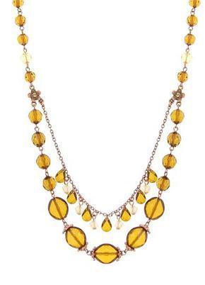 yellow-orange necklace