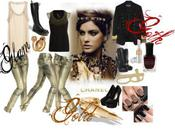 Gold, Glam, Goth Laura Moodley Featuring Gold ringsBeaded...