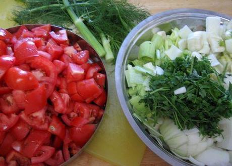 Soupe de poisson - Bouillabaisse - Prepare Ingredients
