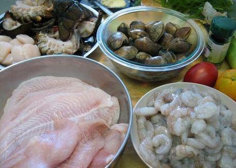 Bouillabaisse - Prepare Ingredients