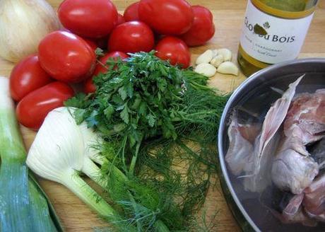 Soupe de poisson - Bouillabaisse - Ingredients