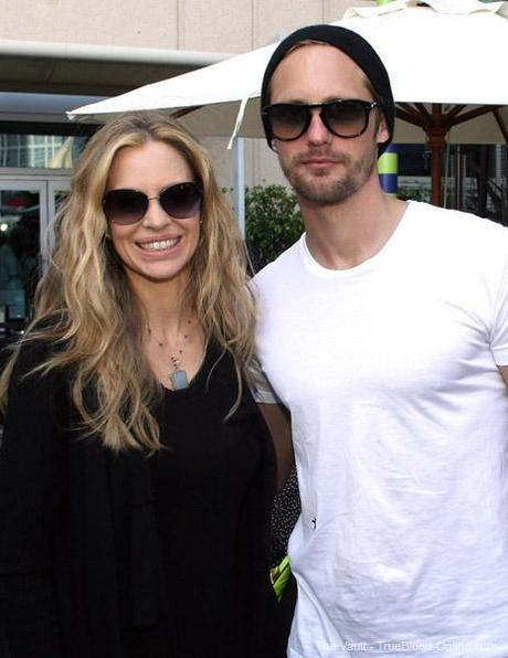Kristin Bauer and Alexander Skarsgård at the WIRED Cafe at Comic-Con