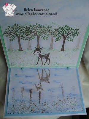 Experimenting with watercolours ~ Bambi water scene