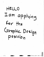 Design CV & Cover letter presentation