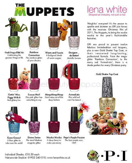 OPI Holiday 2011 - The Muppets Collection!