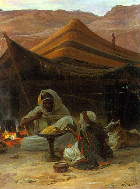Bedouins in the Desert - Detail Man and Child
