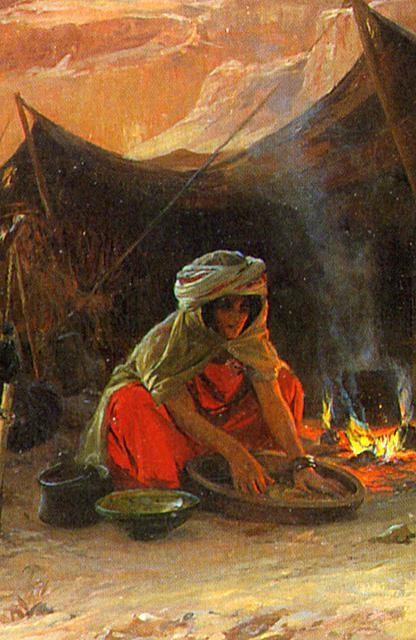 Bedouins in the Desert Detail Woman