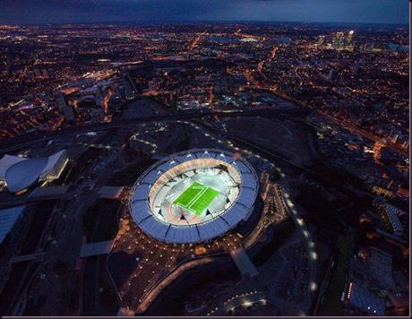Olympic Stadium night