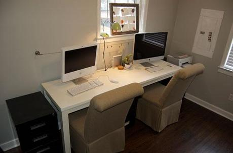 home office for two how to make the space work paperblog