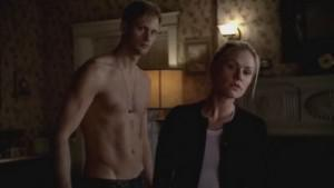 Sookie & Eric in scene with Pam S4 Ep3