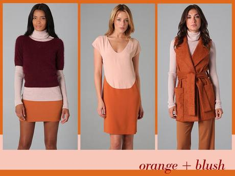 fall trend: orange + blush