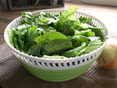 Salad Spinner with Lettuce
