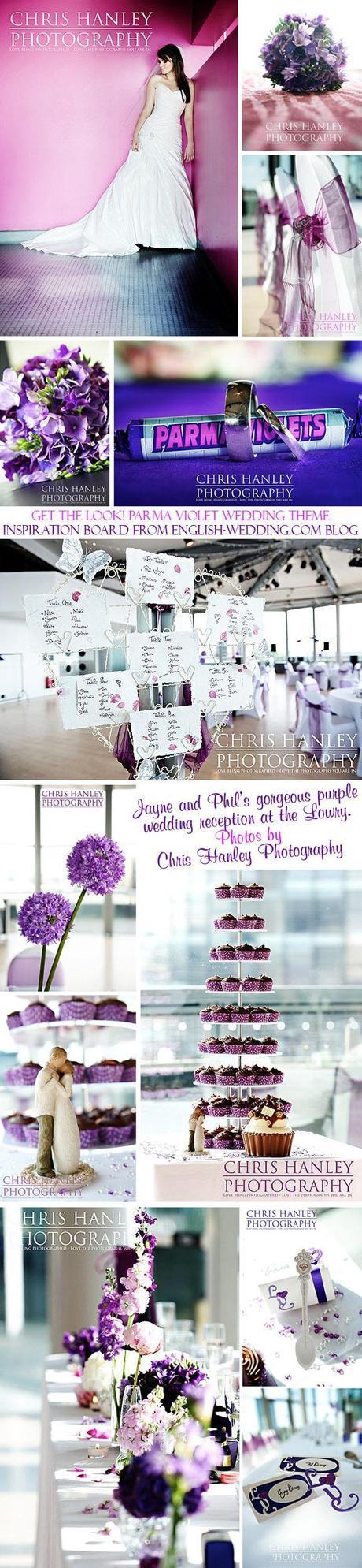 Parma violet wedding inspiration board in purple