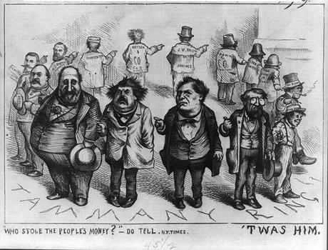 DEBT CEILING crisis:  Thomas Nast - Who drove the country into bankruptcy?