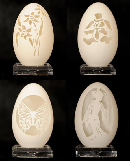 Amazing Carvings For Egg by Brian Baity 3