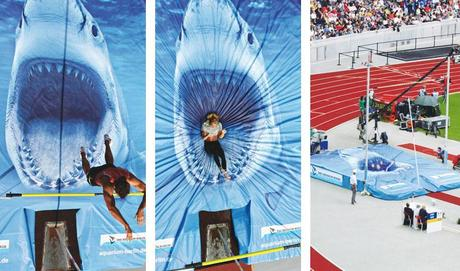 Shark Pole Vault Mat for Zoo Aquarium Berlin