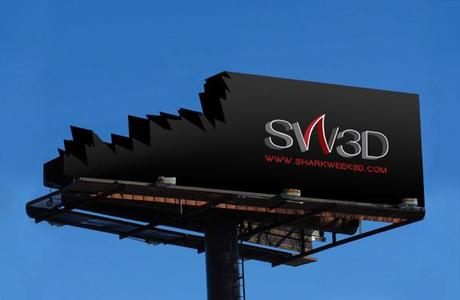 Shark Week 3D Spec Billboard by Glenn Boozan