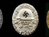"Real Life ""Valkyrie"" Rare WWII Wound Badges from Assassination ""evil One"""