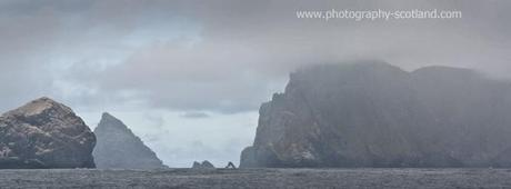 Photo - low cloud over Stac Lee, Stac an Armin and Boreray, St Kilda, Scotland