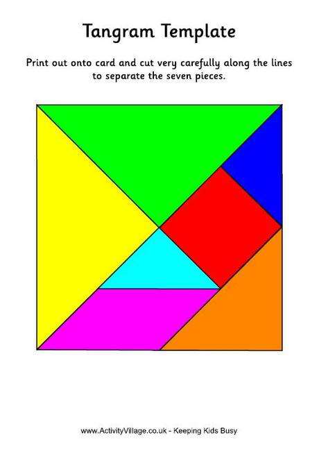 Tangram template colour
