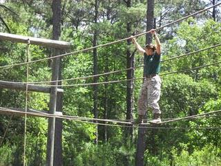 THE MAKING OF A MARINE: CONFIDENCE COURSE