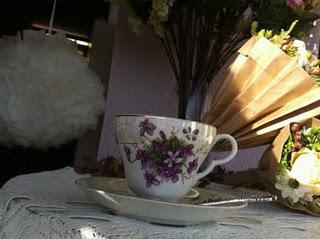 Vintage Tea Party & Pom Poms