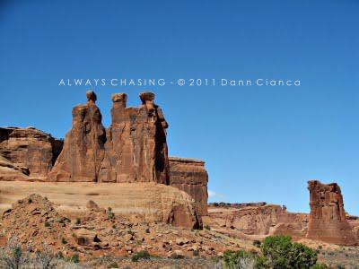 2011 -  March 23rd - Colorado River (Dewey-Moab, Utah), Arches National Park (Courthouse Towers-Balanced Rock)