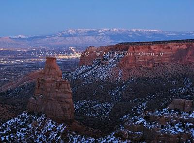 2011 - February 2nd - Rim Rock Drive At Sunset - Colorado National Monument