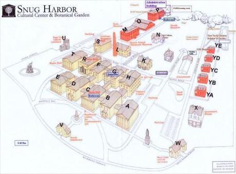 Diagram Of Snug Harbor Cultural Center And Botanical Garden