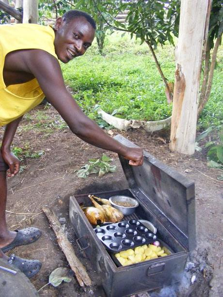 A Kibale Forest special! The metal trunk turned oven worked a treat. Uganda travel blog