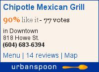 Chipotle Mexican Grill on Urbanspoon