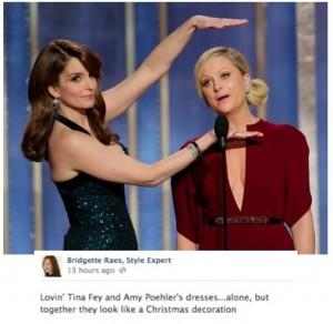 Amy Poehler and Tina Fey 2013 Golden Globes