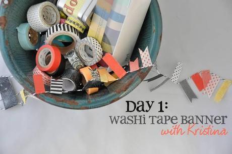 14 Days of Tricks & Treats: Washi Tape Banner