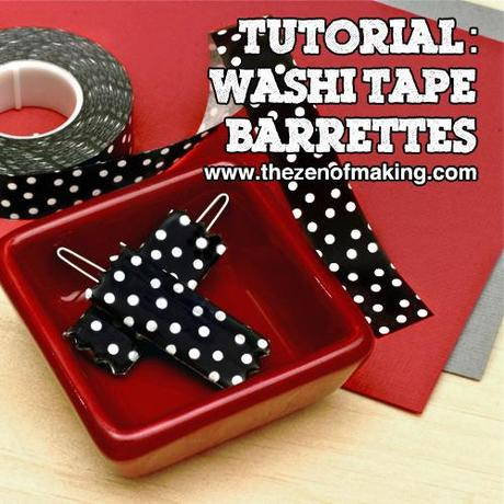 washi tape barrettes