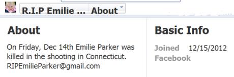 RIP Emilie Parker page