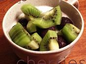 Quick Snack: Yogurt Cherries with Kiwi