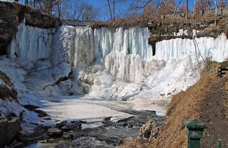 Behind Minnehaha's Frozen Falls