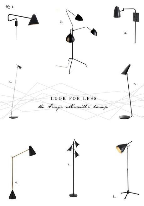 LOOK FOR LESS The Serge Mouille Lamp