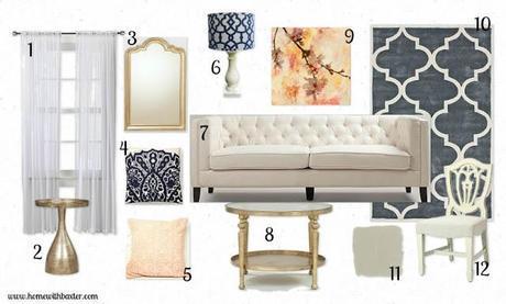 Design Board (glam living room)