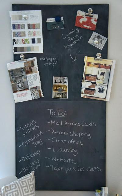Magnetic chalkboard paperblog for Diy chalk paint problems